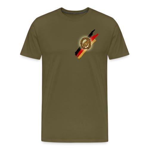 Stürzender Adler Brust - Männer Premium T-Shirt