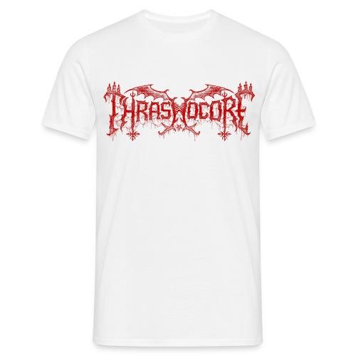 T-shirt homme Thrashocore rouge - Slogan au dos - T-shirt Homme