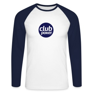 T-shirt manches longues bicolore Club Poker - T-shirt baseball manches longues Homme