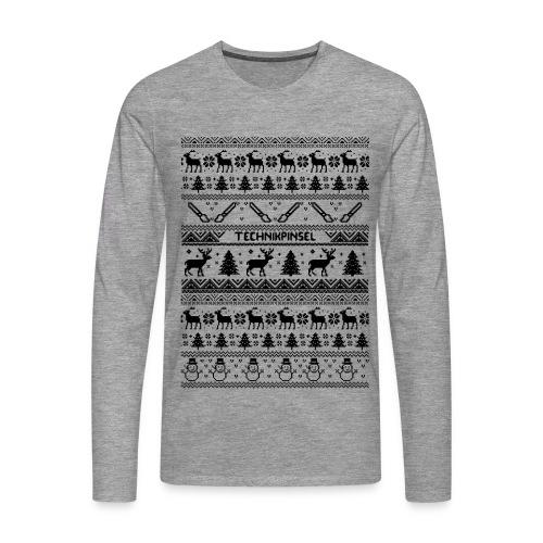 Technikpinsel ~~ Weihnachtspulli - Männer Premium Langarmshirt