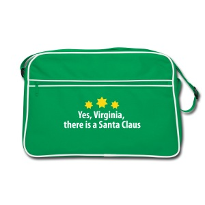 yes Virginia there is a Santa Claus Weihnachtsmann - Retro Tasche