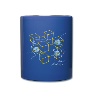 CM-1 Logo mug dark blue with gold/light blue - Full Colour Mug