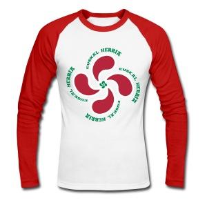 Croix du Pays Basque - T-shirt baseball manches longues Homme