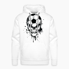 Hvid soccer skull kicker ball football pirat Sweatshirts