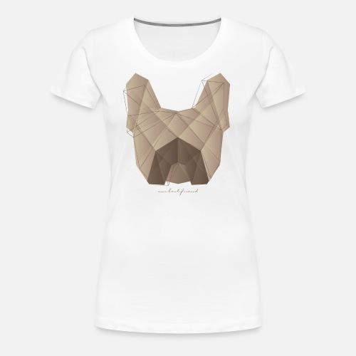 Geometric Frenchie fawn - Frauen Premium T-Shirt