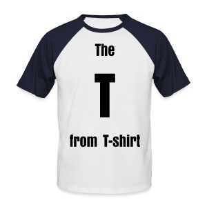 The T from T-shirt - Mannen baseballshirt korte mouw