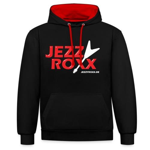 JEZZY ROXX Hoodie schwarz/rot - Kontrast-Hoodie