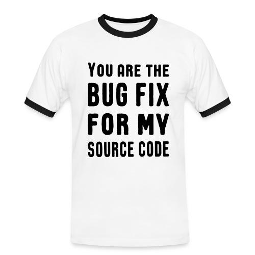 Programmierer Beziehung Liebe Source Code Spruch T-Shirts - Männer Kontrast-T-Shirt