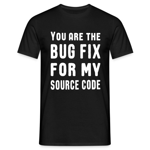 Programmierer Beziehung Liebe Source Code Spruch T-Shirts - Männer T-Shirt