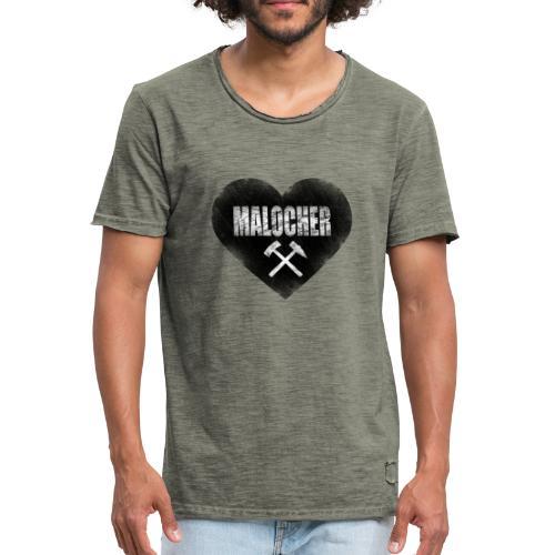 I Love Malocher - Männer Vintage T-Shirt