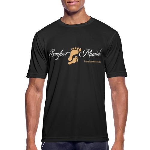 Männer T-Shirt Black AIR - Barefoot Munich - Männer T-Shirt atmungsaktiv