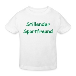 Stillender Sportfreund - Kinder Bio-T-Shirt