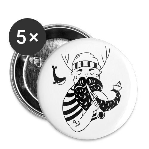 Seemann Buttons - Buttons klein 25 mm (5er Pack)