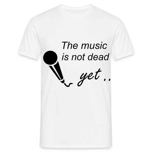 The music is not dead - Herre-T-shirt