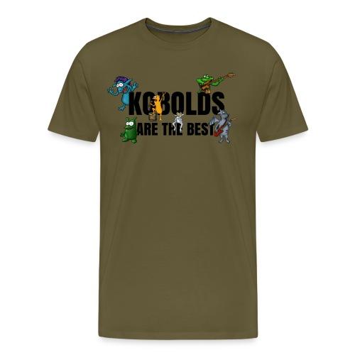 Kobolds Are The Best Men T-Shirt khaki green - Men's Premium T-Shirt