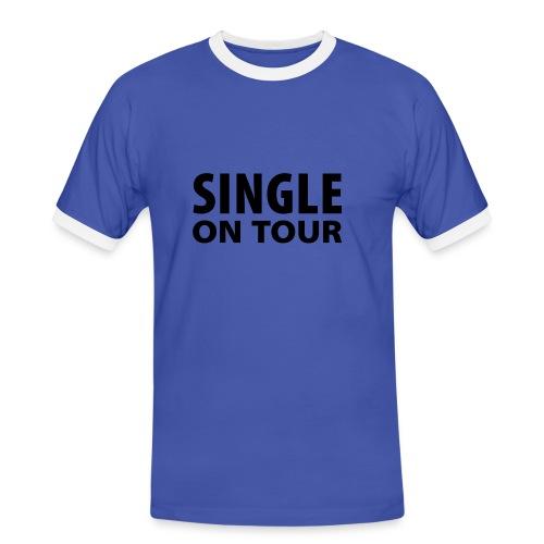 Single on tour t-skjorte - Kontrast-T-skjorte for menn