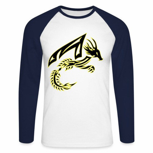 Black Dragon - Men's Long Sleeve Baseball T-Shirt