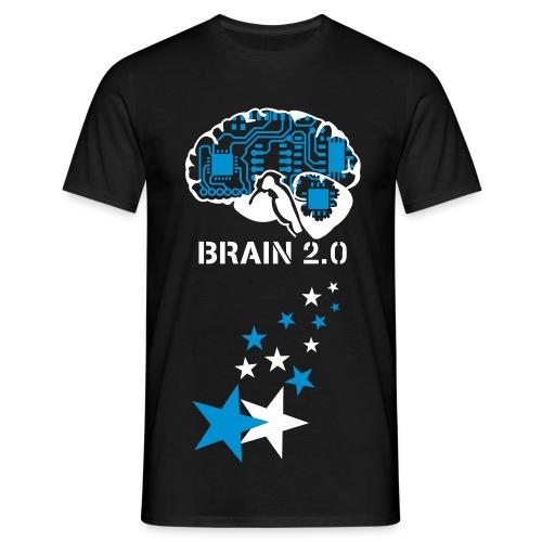 Brain (Black) - Men's T-Shirt
