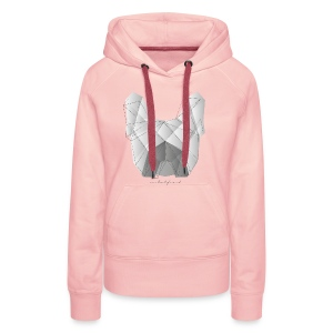 Geometric Frenchie white - Frauen Premium Hoodie