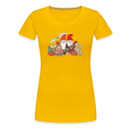 Zwerge im Garten - Damenshirt - Frauen Premium T-Shirt