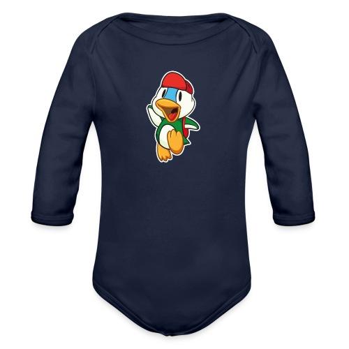 Die kleine süße Ente freut sich auf den nächsten Ausflug Langarm Body - Baby Bio-Langarm-Body