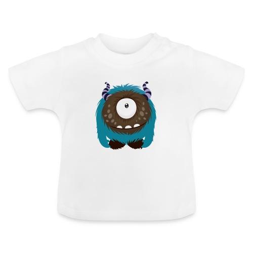 Kleines süßes Monster grinst in die Welt hinein Baby Shirt - Baby T-Shirt