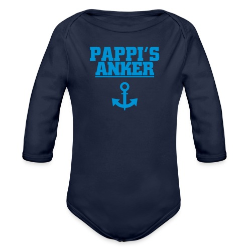 Papis Anker Langarm Body - Baby Bio-Langarm-Body