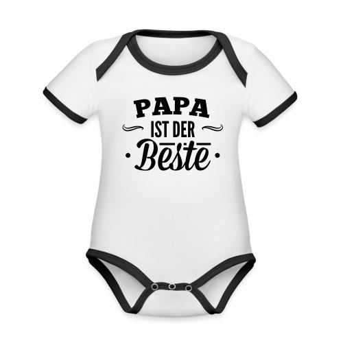 Papa ist der Beste! Baby Body - Baby Bio-Kurzarm-Kontrastbody