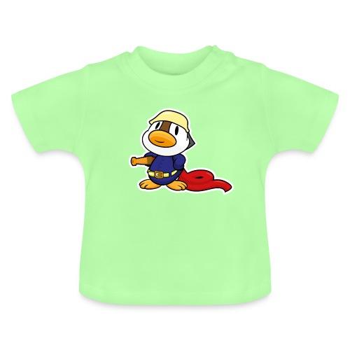 Kleine süße Ente bei der Feuerwehr Baby Shirt - Baby T-Shirt