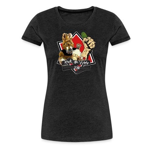 RAW 2018 Damen mit Gurke - Frauen Premium T-Shirt