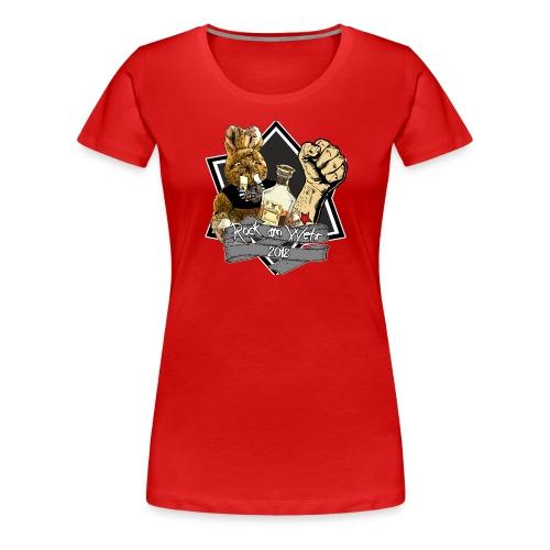 RAW 2018 Damen grauer Stern - Frauen Premium T-Shirt