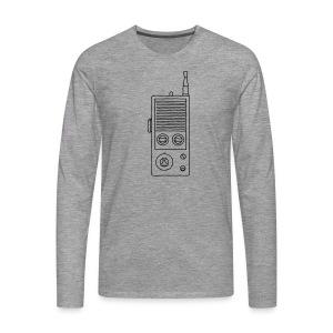 Funkgerät Walkie-Talkie - Männer Premium Langarmshirt