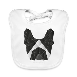 Geometric Frenchie black white