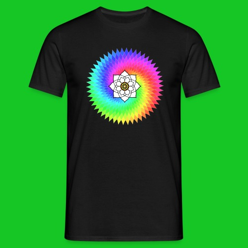 Lotus Juweel Sahasrara mannen t-shirty - Mannen T-shirt