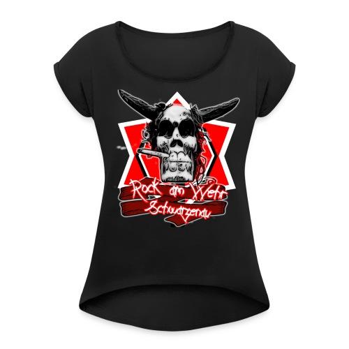 Damen mit Paul 2018 - Frauen T-Shirt mit gerollten Ärmeln