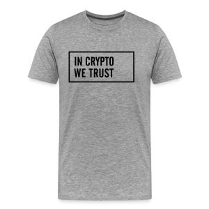 IN CRYPTO WE TRUST - Männer Premium T-Shirt