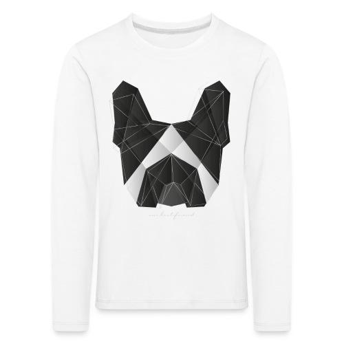 Geometric Frenchie black white
