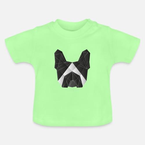 Geometric Frenchie black white - Baby T-Shirt