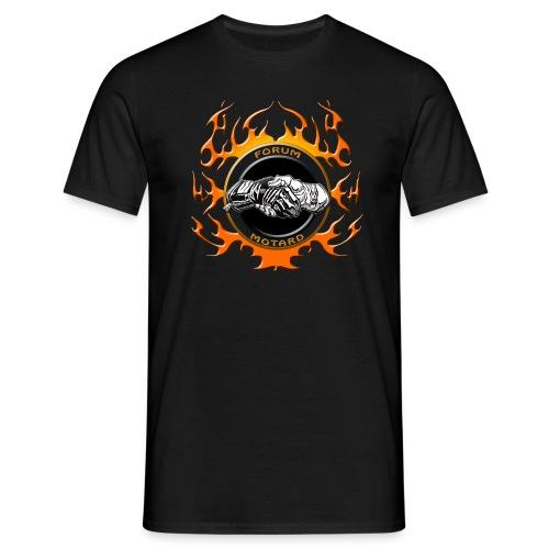 Forum Motard Flammé Orange - T-shirt Homme