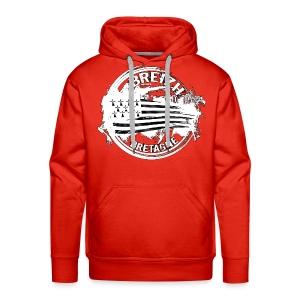 Breizh Bretagne - Sweat-shirt à capuche Premium pour hommes