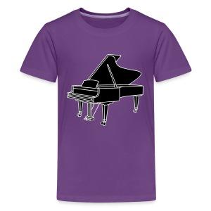 Klavier Konzertflügel 2 - Teenager Premium T-Shirt