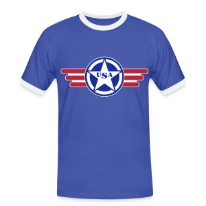 USA - T-shirt contrasté Homme