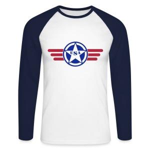 USA - T-shirt baseball manches longues Homme