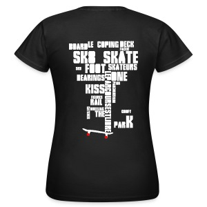 Fig imposed and red sk8 - Blk Ed - T-shirt Femme