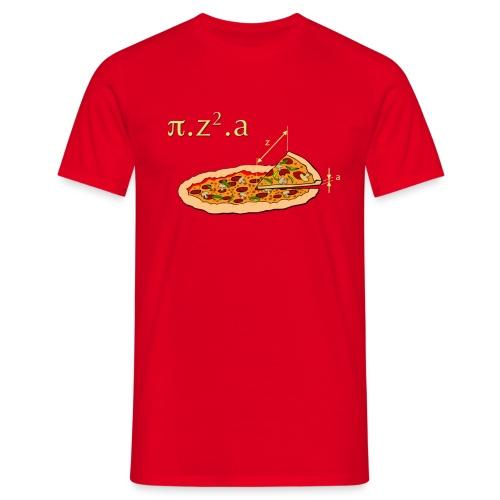 Le volume d'une pizza... - T-shirt Homme