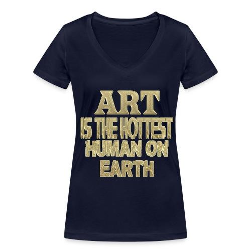 ART  - Frauen Bio-T-Shirt mit V-Ausschnitt von Stanley & Stella