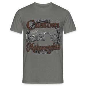 Motorrad Custom Motorcycle - Männer T-Shirt