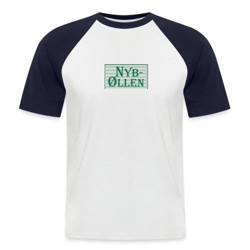 Kortærmet herre-baseballshirt