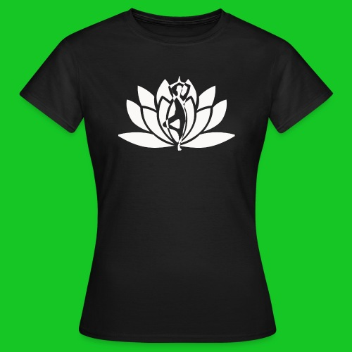 Lotus vrouw silhouet dames t-shirt - Vrouwen T-shirt