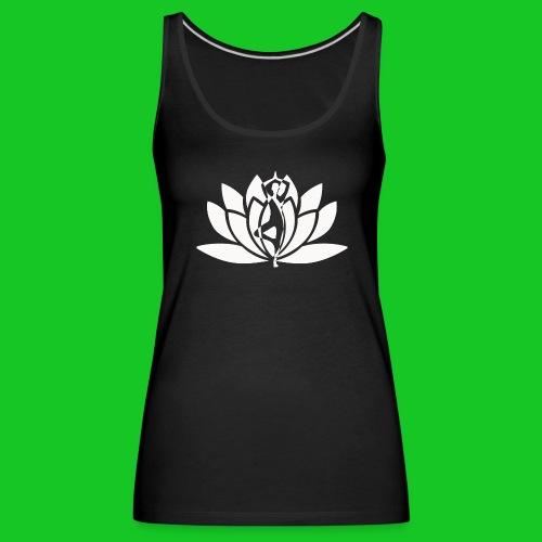Lotus vrouw silhouet dames t-shirt - Vrouwen Premium tank top